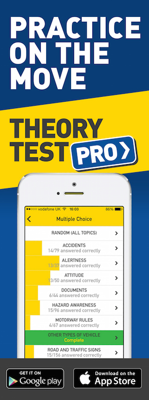 Theory Test Pro in partnership with Care Motoring